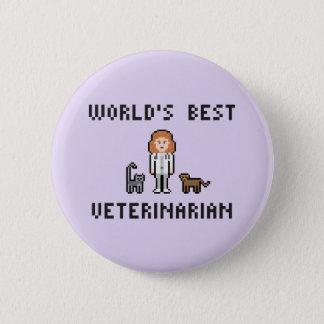 Pin's Bouton vétérinaire femelle du monde de pixel le