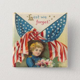 Pin's Bouton vintage de carré de soldat