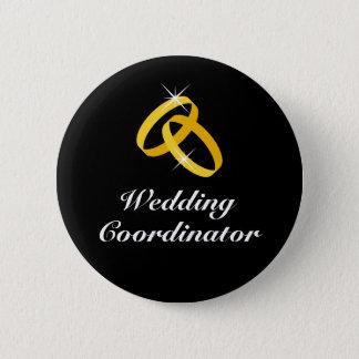 Pin's Boutons d'or de pinback d'anneaux de coordonnateur