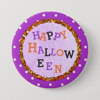 Pin's Boutons pourpres et oranges de Halloween heureux
