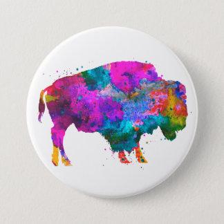 Pin's Buffalo d'aquarelle