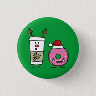 Pin's Café de renne de Noël et beignet de Père Noël