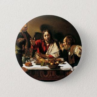 Pin's Caravaggio - dîner chez Emmaus - peinture