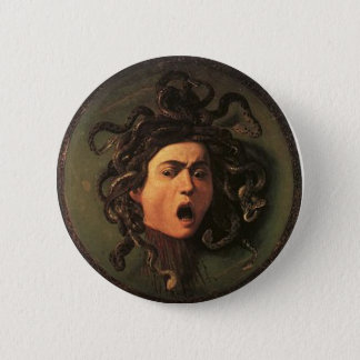 Pin's Caravaggio - méduse - illustration italienne