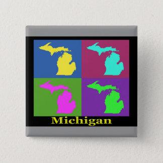Pin's Carte colorée d'art de bruit d'État du Michigan