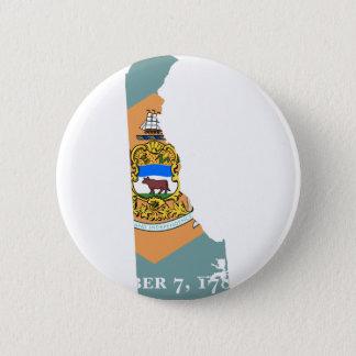 Pin's Carte de drapeau du Delaware