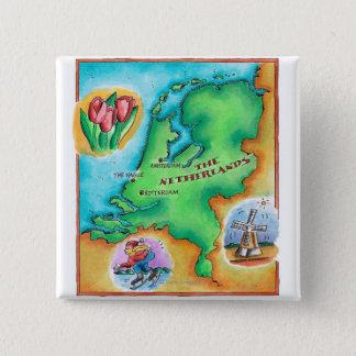 Pin's Carte de Pays-Bas