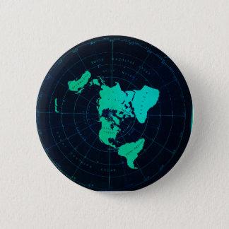 Pin's Carte plate de la terre (projection équidistante