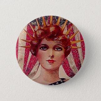 Pin's Carte postale patriotique de Madame Liberty le 4