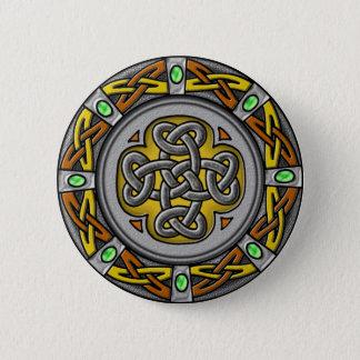 Pin's Cercle celtique - acier et cuir