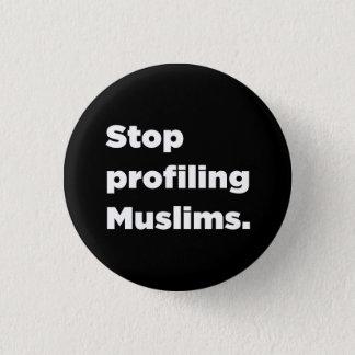 Pin's Cessez de profiler le bouton de musulmans