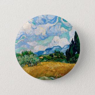 Pin's Champ de blé avec des cyprès par Vincent van Gogh