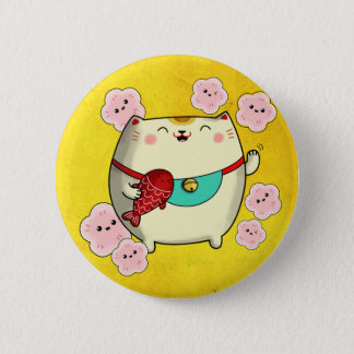 Pin's Chat rond mignon de Maneki Neko