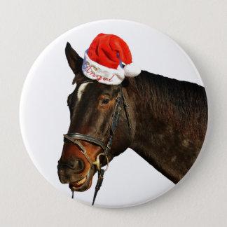 Pin's Cheval père Noël - cheval de Noël - Joyeux Noël