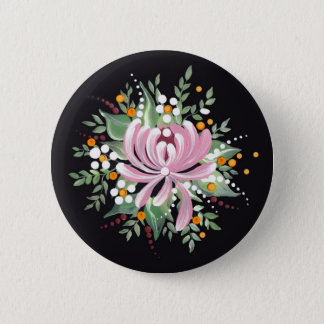 Pin's Chrysanthème peint à la main