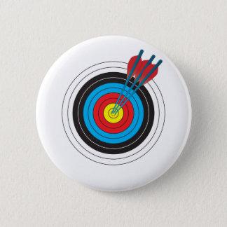 Pin's Cible de tir à l'arc avec des flèches