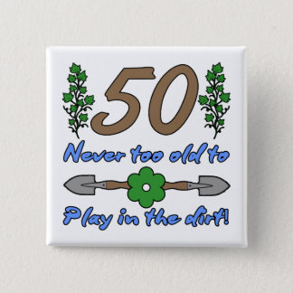 Pin's cinquantième Anniversaire pour des jardiniers