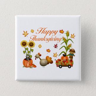 Pin's Citrouille et la Turquie de feuille d'automne de b