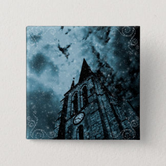 Pin's Clocktower bleu gothique
