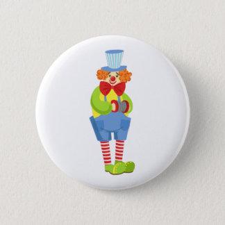 Pin's Clown amical coloré avec l'accordéon miniature I