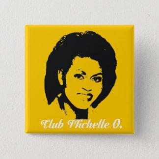 Pin's Club Michelle O. Button, jaune de maïs