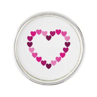 Pin's Coeur rose de coeurs