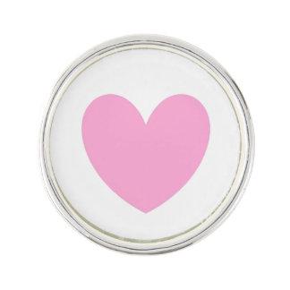 Pin's Coeurs de polka de rose de sucrerie de coton sur