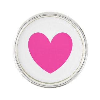 Pin's Coeurs roses fuchsia de polka sur le blanc