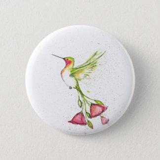 Pin's colibri de queue de fleur