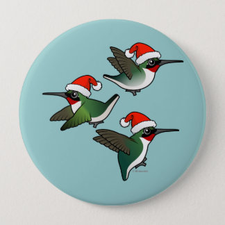 Pin's Colibri Rubis-throated de Noël