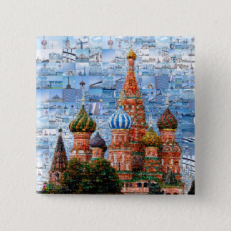 Pin's Collage de la cathédrale de Basil - Russie - le