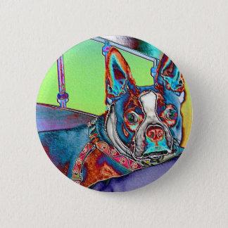 Pin's Colorez mon monde avec des terriers de Boston