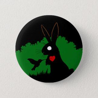 Pin's Conception 1 de bouton de lapin d'ombre