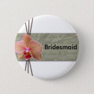 Pin's Conception élégante de mariage d'orchidée