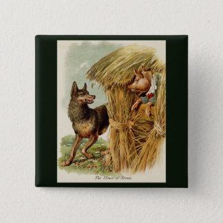Pin's Conte de fées vintage, trois petits porcs et loup