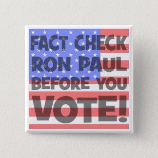Pin's contrôle Ron Paul de fait