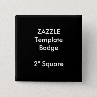 """Pin's Copie faite sur commande 2"""" modèle carré de blanc"""