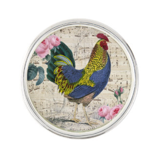 Pin's Coq chic minable