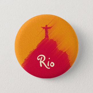 Pin's Corcovado rouge Rio-Brésil