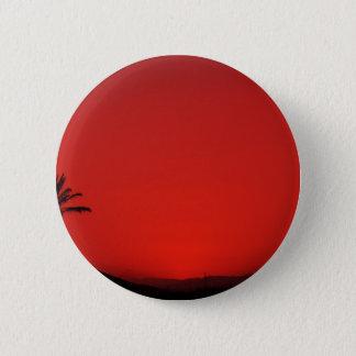 Pin's Coucher du soleil andalou rouge avec le palmier de