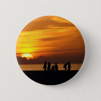 Pin's Coucher du soleil sur la plage