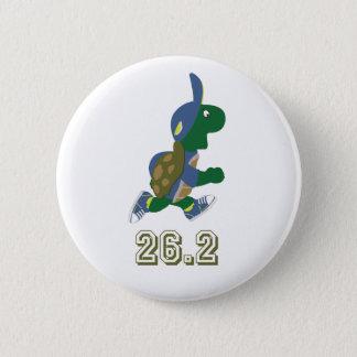 Pin's Coureur de tortue de marathon dans le bleu