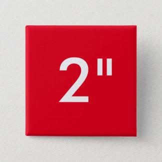 """Pin's Coutume 2"""" modèle carré de blanc de bouton de"""