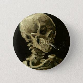 Pin's Crâne avec la cigarette par Van Gogh