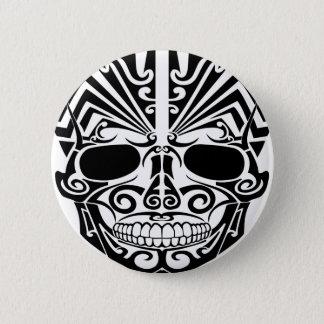 Pin's Crâne maori de masque de tatouage