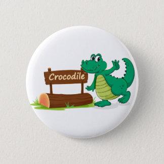 Pin's crocodile et plaque d'identification