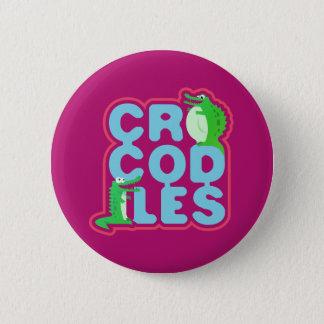 Pin's Crocodiles avec deux crocs heureux - lettres