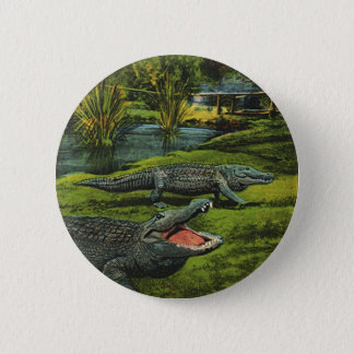 Pin's Crocodiles vintages, animaux d'espèce marine,