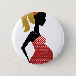 Pin's Dame enceinte en rouge avec les points