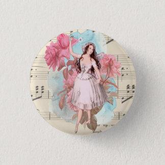 Pin's Danseuse féerique vintage florale de ballerine de